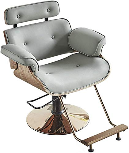 Read About Suge Barber Chair Height Adjustable PU Leather Hydraulic Swivel Salon Chairs for Hairdres...