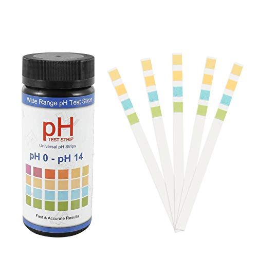 ATUIO - Soil pH Test Strips, Boden pH Teststreifen, [100 Streifen], pH Pflanzentester für Blumenerde, 0-14 pH-Bodenmessgerät für Pflanzen, Teststreifen Boden pH Wert für Gartenbau, Bauernhof, Garten