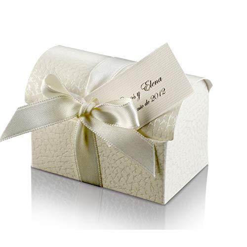 Belle Vous Cajitas para Regalo Papel Dorado y Blanco Cajas Almohada con Etiquetas y Cordel Navidad Cumplea/ños Pack de 50 Cajas Kraft Estilo Vintage Lunares y Rayas para Bodas Baby Shower