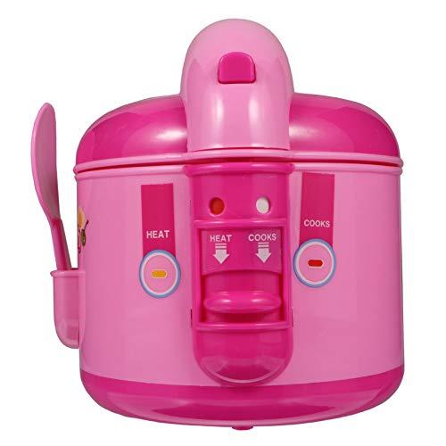 Kisangel Olla Arrocera para Niños Juguete Cocina Jugar Juguete Juego de Simulación Electrodomésticos de Chef Aprendizaje Temprano Preescolar Cocina Juguete para Niños Niños Niñas Niños