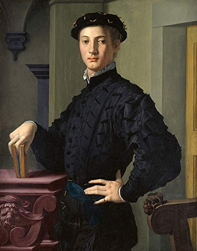 Posterazzi Collection Portrait of a Young Man Poster Print by Agnolo Bronzino (28 x 22)