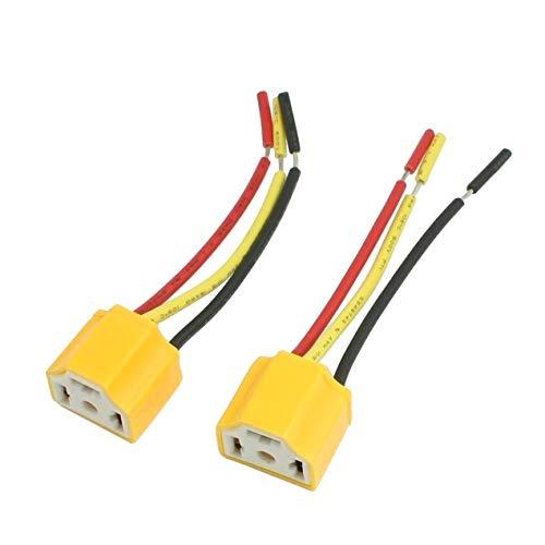 YUNB 2 Piezas H4 lámpara Bombilla Enchufe Coche Auto Faro Conector Enchufe