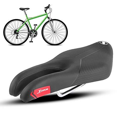 Asiento de bicicleta, cómodo asiento de montar suave y transpirable, adecuado para bicicleta de montaña, bicicleta de carretera, bicicleta de giro