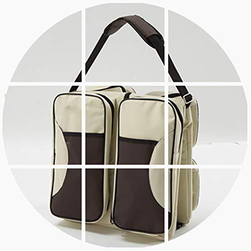 WXWX 3 in 1 tragbare Wickeltasche Falten Kinderbett Multifunktions Wickeltasche Baby Pad,Beige