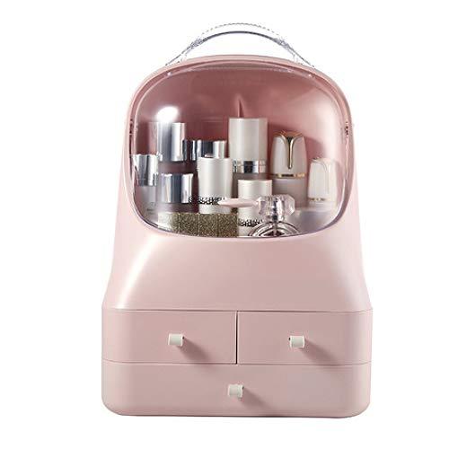 Caja de Almacenamiento Estante de Caja de Almacenamiento de Maquillaje Transparente Multifuncional Caja de vestidor de separación de cajón portátil Rosa