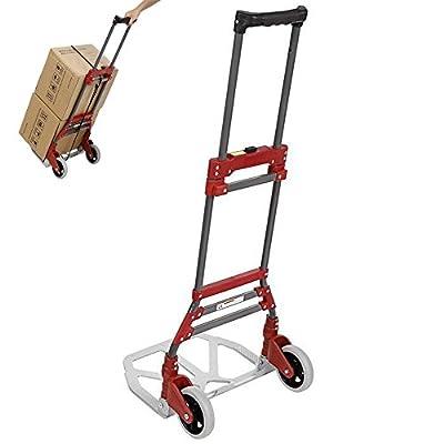 Utility Folding Cart, Stair Climbing Grocery Transit Cart with Swivel Wheel Bearings