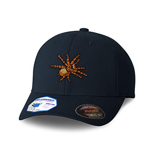 Flexfit Hats for Men & Women Animal Wildlife Bug Insect Spider Tarantula Orange Polyester Dad Baseball Cap Dark Navy Design Only Large XLarge