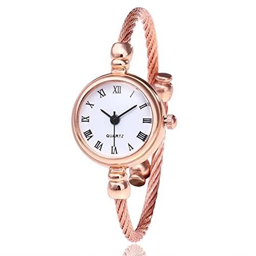 Tongjun Chic Stil Mädchenkunst Retro Armbanduhr Weibliche Student Offene Trend Watch Legierung Stahl Armreif Manschette Handgelenk Armbanduhr Quartz Uhr (Size : 3)