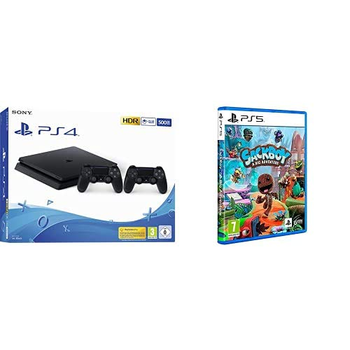 Playstation 4 (PS4) - Consola 500 Gb + 2 Mandos Dual Shock 4 (Edición Exclusiva Amazon) + Sackboy: A Big Adventure (PS4)