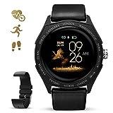 GOKOO Smartwatch Fitness Aktivität Tracker Damen Frauen 1,3'' Zoll Voller Touchscreen IP67 Wasserdicht Sportuhr Armband Pulsuhren Schlafüberwachung Kalorienzähler für Android & iOS (Schwarz)
