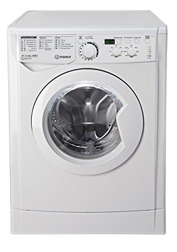 Indesit EWD 61482 W DE Waschmaschine FL / 163 kWh / 1400 UpM / 6 kg / 8643 Liter / MyTime, Schneller als 1 Stunde / Inverter-Motor / leise nur 54 db / Wasserstopp