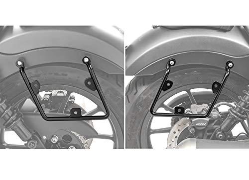Set Soporte de alforjas Compatible para Honda Rebel 500 17-21 de Maletas Laterales (Pareja)