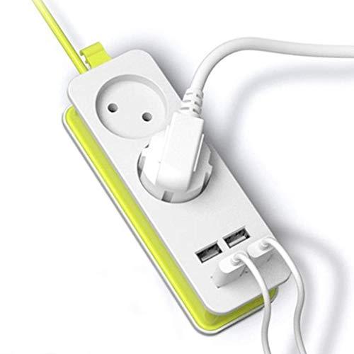 SXXYTCWL Tira de Enchufe de Enchufe de Enchufe de Enchufe de Enchufe de Enchufe de Enchufe 1200W múltiple múltiple portátil 4 Puerto USB Cargador 1,5 m para teléfonos Inteligentes. jianyou