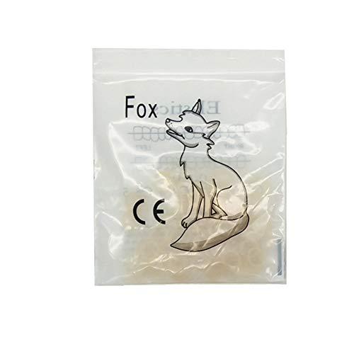 3.5 Oz Dental Rubber Bands,Dental Orthodontic Elastics Braces Rubber Bands Power Chains 5 bags (100 rubber per bag) (1/4')
