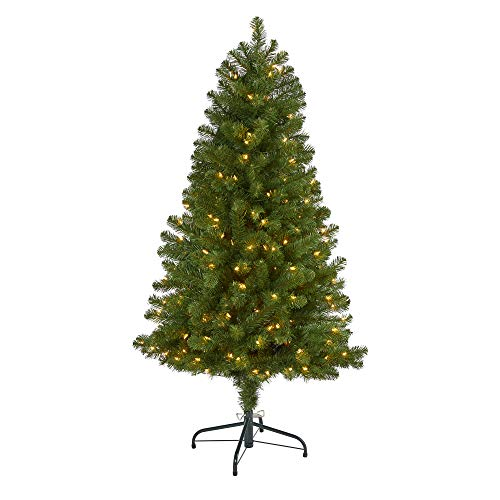 5ft. Virginia Fir Artificial Christmas Tree with 200 Clear Lights and 379 Bendable Branches