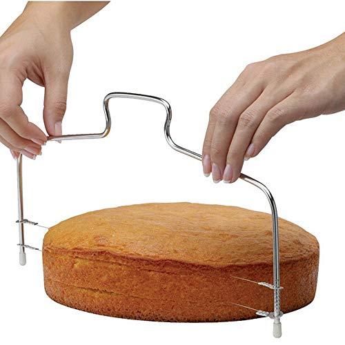 Lucktime Tortenbodenteiler Cake- Tortenboden Schneidehilfe leicht zu reinigen – so Wird Backen zum Vergnügen und Schicht-Torten gelingen mühelos