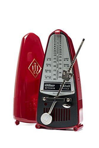 Wittner Taktell Piccolo Metronom Kunststoffgehäuse ohne Glocke rubinrot