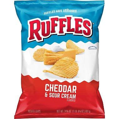 Ruffles Cheddar and Sour Cream Potato Chips 24.3 oz. A1