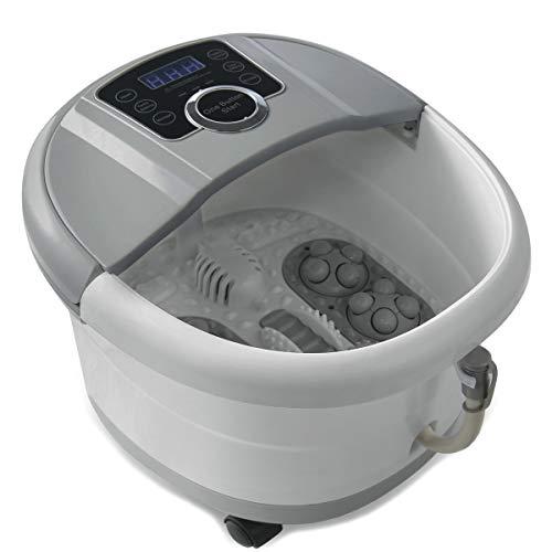 Foot Spa Bath Massager with Heat and Automatic Massage Foot Pedicure Spa Machine Athletes Foot Bubble Soak Tub,Digital Adjustable Temperature Control