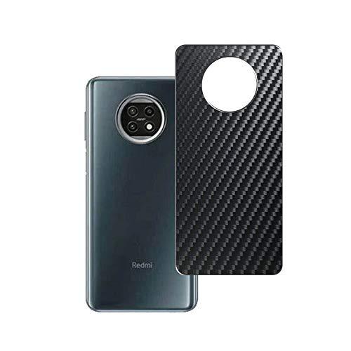 VacFun 2 Piezas Protector de pantalla Posterior, compatible con XIAOMI Redmi Note 9 5G, Película de Trasera de Fibra de carbono negra