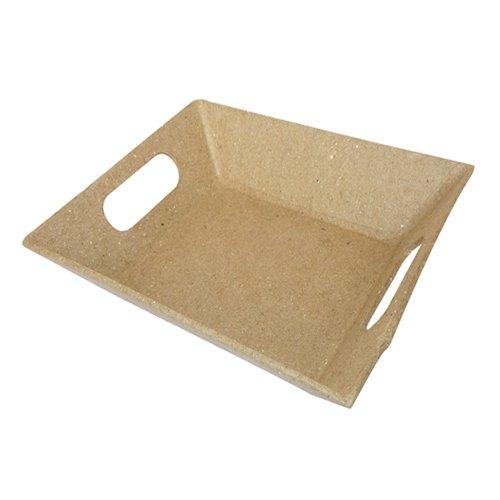 NEU Pappmaché-Schale mit Griffen, ca. 12x10x2,7cm [Spielzeug]