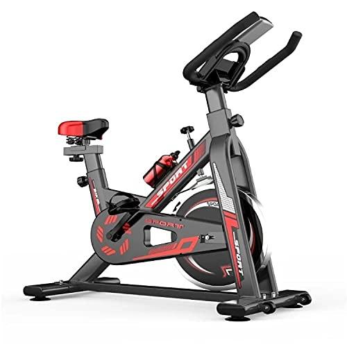 WOERD Bicicleta De Spinning, Bicicleta EstáTica Bici Spinning Indoor, Bicicleta con Pantalla LCD/Correa Silenciosa/PulsóMetro para Resistencia MagnéTica/Asiento Suave Ajustable. hasta 150kg