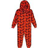 Star Wars Kids Pyjama Fleece Overall One Piece - Red - 9-10 Years