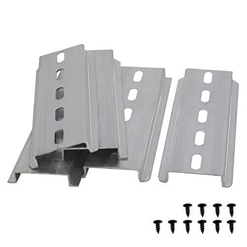 Taiss/5 Stücke DIN-Schiene Schlitz Aluminium RoHS,für Verteilerschrank Schaltschrank einbau, 35mm breit, 7,5mm hoch, lang 100mm/4