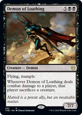Magic: The Gathering - Demon of Loathing - Theme Booster Exclusive - Theros Beyond Death