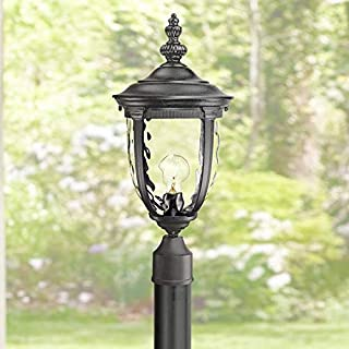 Bellagio Outdoor Post Light with Burial Pole Texturized Black 103