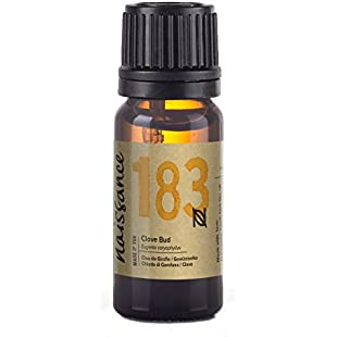 Naissance Clove Bud Essential Oil (no. 183) 10ml - Pure, Natural, Cruelty Free, Steam Distilled and Undiluted - for Use in Aromatherapy & Diffusers