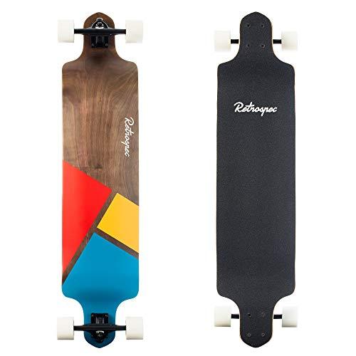 Retrospec Tidal 41-inch Drop-Down Longboard Skateboard Complete 41-Inch; Geo Mainstay (3507)
