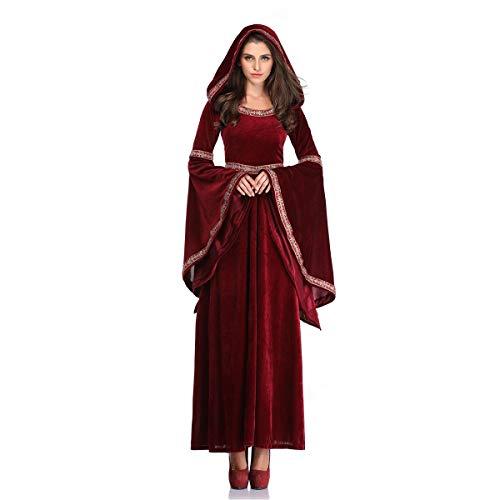 Disfraz de vampiro de magia para Halloween, disfraz de palacio, retro, con capucha, para adultos, estilo punk, gtico, medieval, cosplay, carnaval, escenario, camuflaje,