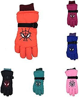 Wild Snow Children Kids Winter Warm Ski Gloves Boys Girls Sport Gloves Mittens Waterproof Windproof Snow Gloves (Color : Green, Size : M)