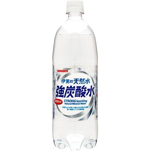 伊賀の天然水 強炭酸水 1L×12本 PET