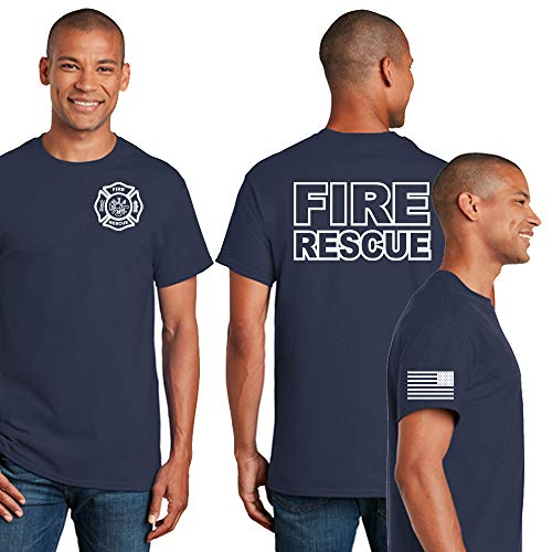 Amazon.com: Fire Rescue|Fire Department|Mens Firefighter T-Shirt: Clothing