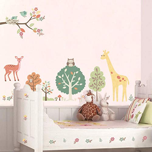 87 x 122 cm Animal Comic kinderkamer decoratie PVC muursticker DIY mooie dieren poppenwagen sticker