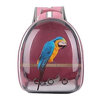 liaobeiotry Sac de Transport pour Animal Domestique Perroquet Oiseau Sac de Voyage Capsule Transparent Respirant à 360 °