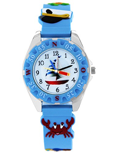 Pacific Time Kinderuhr analog Quarz mit Silikonarmband 86281