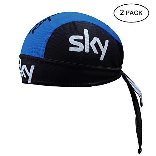 Feilaxleer 2 Sombreros de Ciclismo de Secado Rápido,Pañuelo Cabeza Bufanda Pirata Gorra de Hombre/Mujer para Deportes al Aire Libre,Blanco