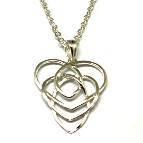 Handmade Sterling Silver Knot Motherhood Pendant Necklace