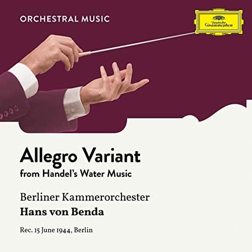 Berliner Kammerorchester & Hans von Benda