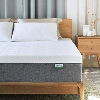 Queen Mattress Novilla 10 inch Gel Memory Foam Queen Size Mattress for Cool Sleep & Pressure Relief Medium Firm Bed Mattresses Bliss