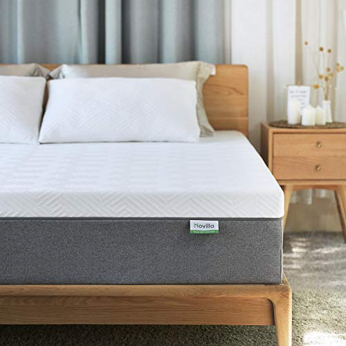 Queen Mattress, Novilla 10 inch Gel Memory Foam Queen Size Mattress for Cool Sleep & Pressure Relief, Medium Firm Bed Mattresses, Bliss