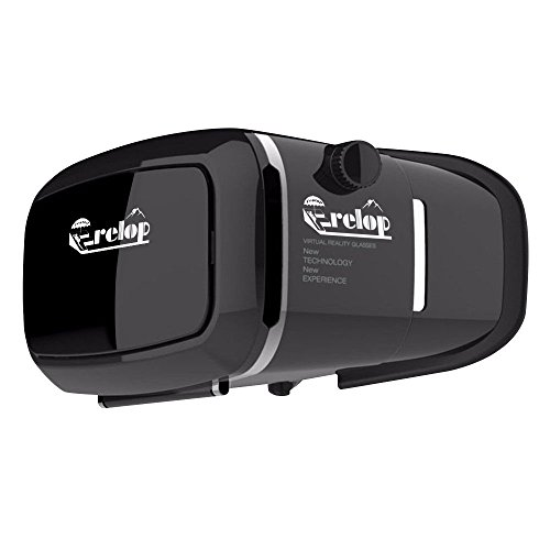 360� Viewing Immersive Virtual Reality Headset VR Goggle Box 3D Glasses for 3D Movies Video Games, Compatible with iPhone 7 Plus/ 6s Plus Samsung Galaxy Series and Other Smartphone