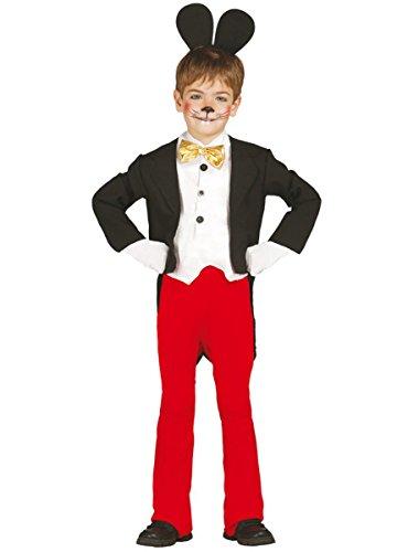 Guirca grafoplas SL.–Traje Mickey Mouse bmbino 7/9años, Color Negro,...