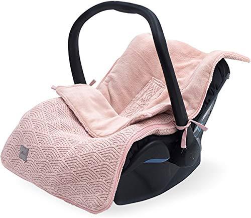 Jollein 025-811-65286 Fußsack für Babyschale River knit pale pink