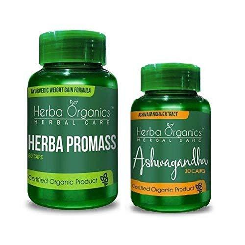 Herba Organics Weight Gain Capsules Pack Of 2(60 + 30 capsules)