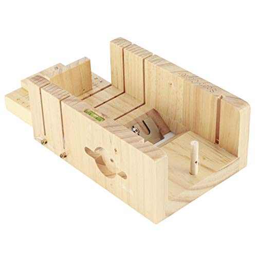 LHJCN Cortador de jabón, caja de cortador de jabón, herramienta de corte de jabón, suministros de fabricación de jabón, fácil de usar para hacer jabón y cortar pan, postre