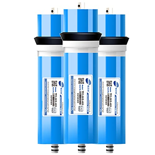 Universal 3013-400 GPD Filtro de Agua de Membrana de ósmosis inversa de Repuesto para Sistema de ósmosis inversa y Debajo del Fregadero (Paquete de 3)